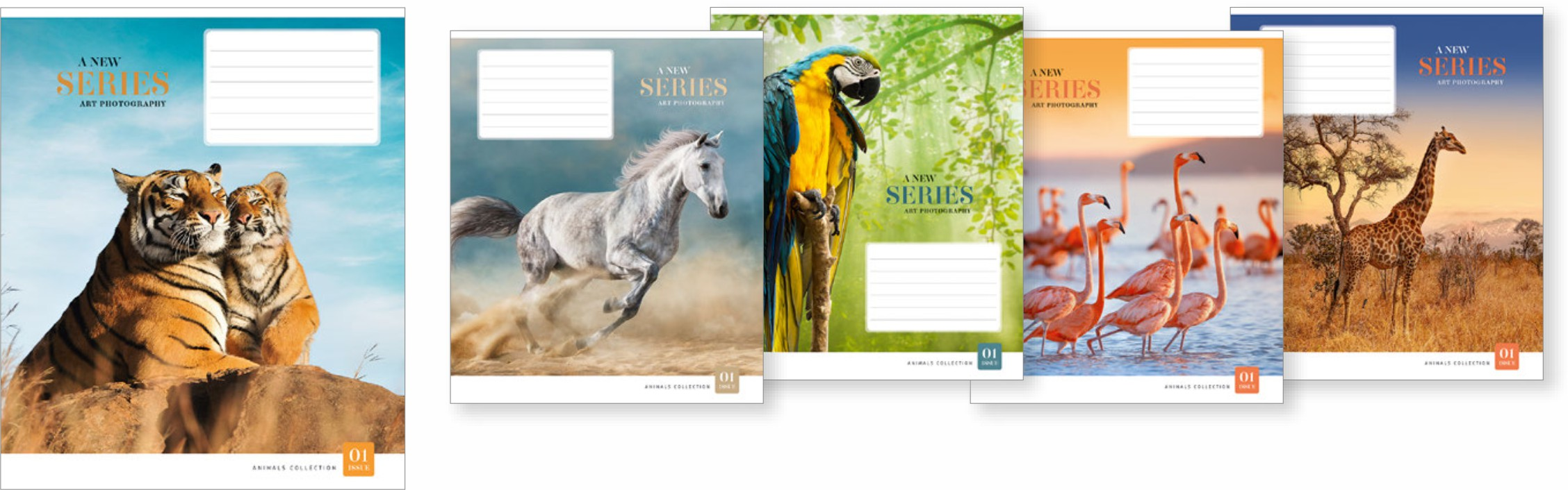 """Caiet 24 file linie, Школярик """"Animals colection"""" 024-3008L (25